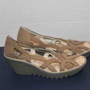 Fly London Size 40 Womens Open Toe Wedges Shoes
